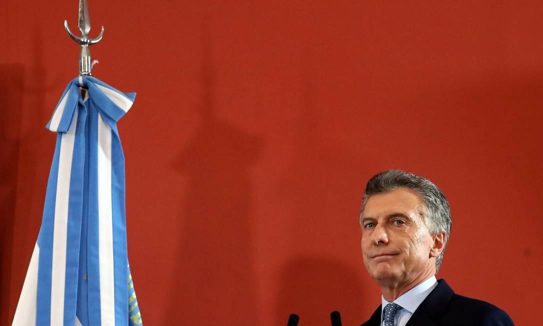 O presidente argentino, Mauricio Macri Foto: Marcos Brindicci / REUTERS