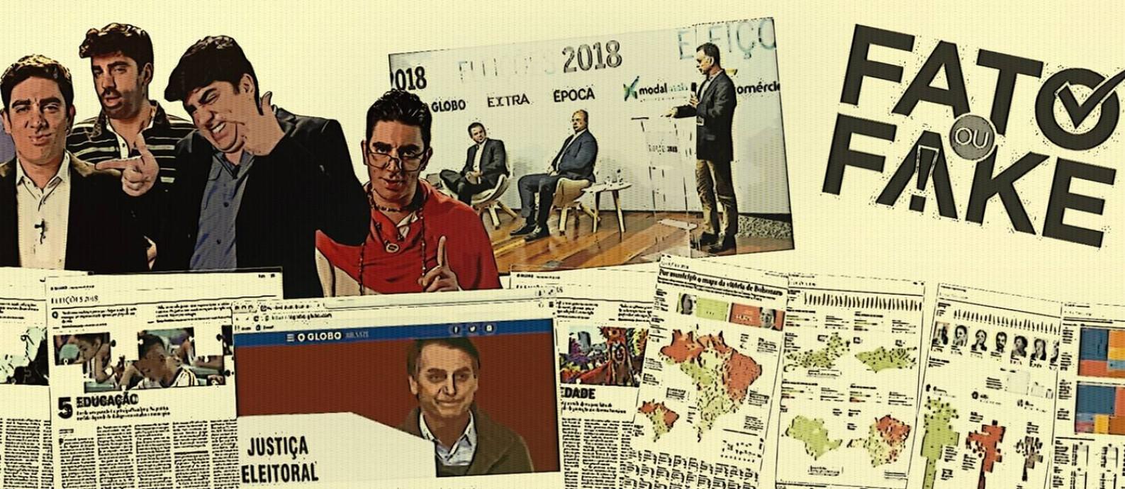 Eleições 2018 no GLOBO: notícia, análise e humor na campanha Foto: Editoria de Arte