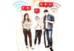 Adolescentes conectados: excesso pode fazer mal Foto: Ilustração Silvana Mattievitch