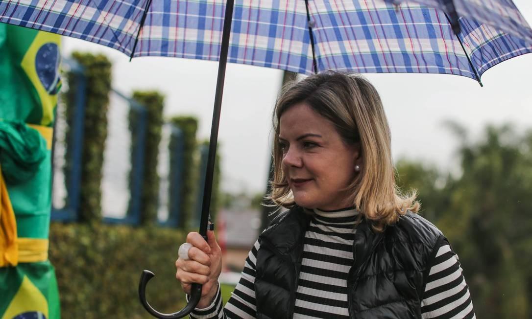 A presidente do PT, Gleisi Hoffmann Foto: Geraldo Bubniak / Agência O Globo