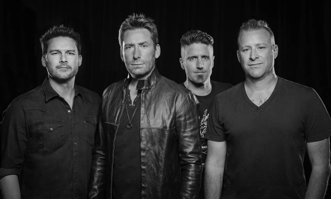 O grupo canadense Nickelback Foto: Divulgação