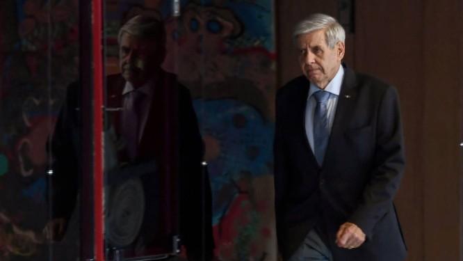 O general Augusto Heleno, antes de reunião no Palácio do Planalto Foto: Evaristo Sá/AFP/31-10-2018