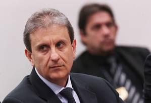 O doleiro Alberto Youssef presta depoimento na CPI dos Fundos de Pensão Foto: Jorge William/Agência O Globo/27-10-2015