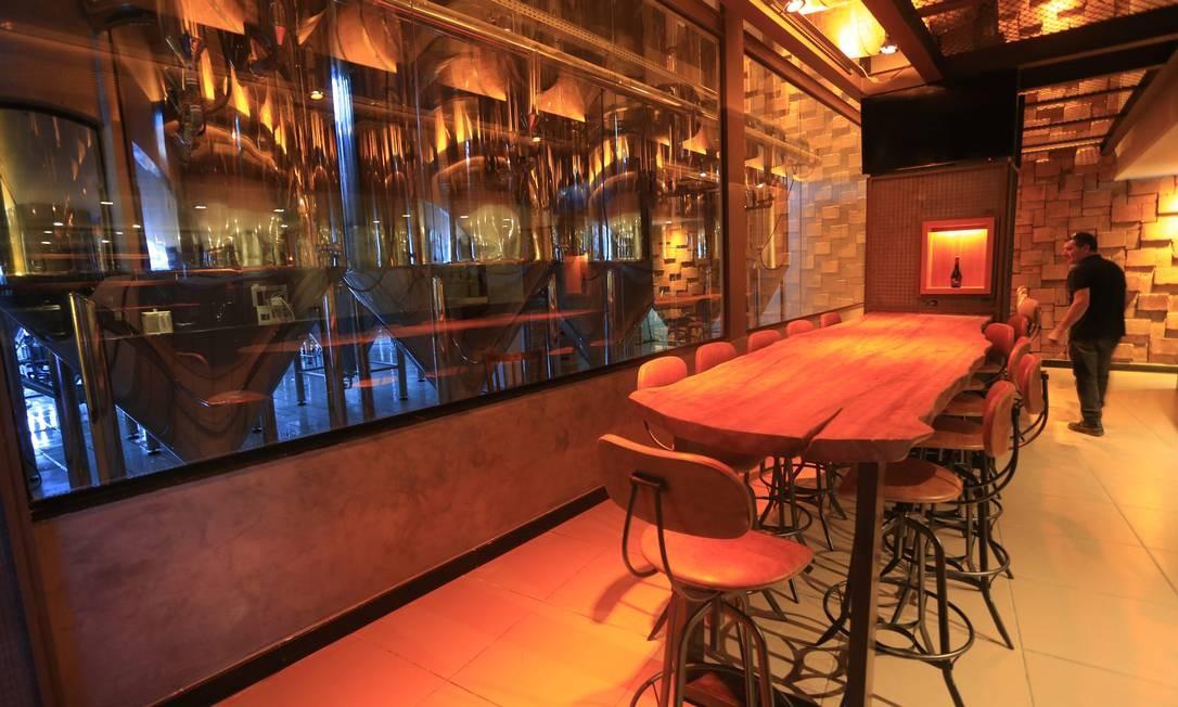 Ambiente de degustação da Nostra Casa dela Birra Foto: Agência O Globo