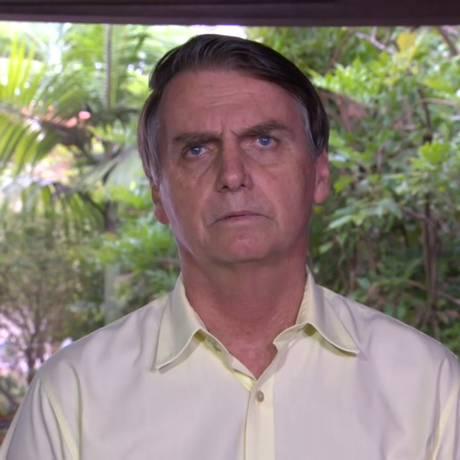 Jair Bolsonaro concede entrevista coletiva no Rio de Janeiro Foto: Reprodução / TV Globo