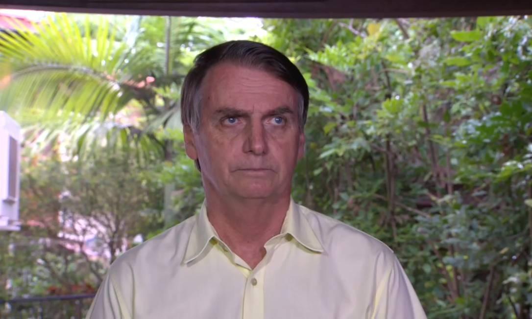 Presidente eleito do Brasil, Jair Bolsonaro, durante entrevista no Rio de Janeiro Foto: Picasa / Agência O Globo
