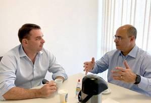 Flávio Bolsonaro e Wilson Witzel Foto: Divulgação