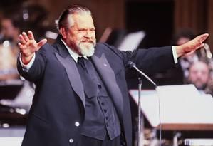 O cineasta Orson Welles, em 1982 Foto: PIERRE GUILLAUD / AFP