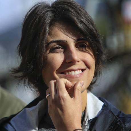 Manuela D'Avila participa de atividade de campanha no ABC paulista Foto: Edilson Dantas/Agência O Globo/05-08-2018