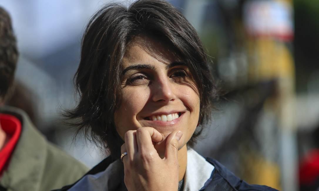 Ex-deputada e ex-candidata a vice-presidente da República na chapa do PT, Manuela D'Ávila. Foto: Edilson Dantas/Agência O Globo/05-08-2018