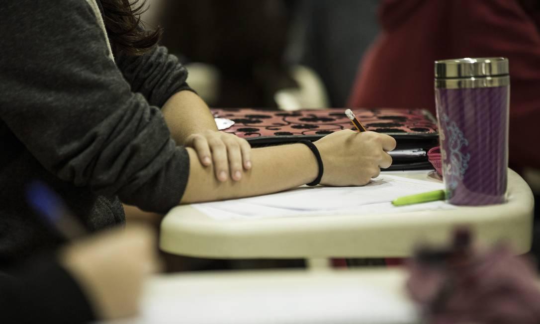 Neste domingo, estudantes farão provas de Ciências Humanas, Linguagens e Redação Foto: Guito Moreto / Agência O Globo