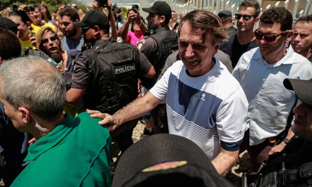 O presidente eleito Jair Bolsonaro, na Barra da Tijuca Foto: Brenno Carvalho/Agência O Globo/31-10-2018
