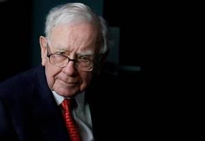 O megainvestidor americano Warren Buffett, ECO da Berkshire Hathaway Foto: Rick Wilking / Rick Wilking/Reuters/6-5-2018