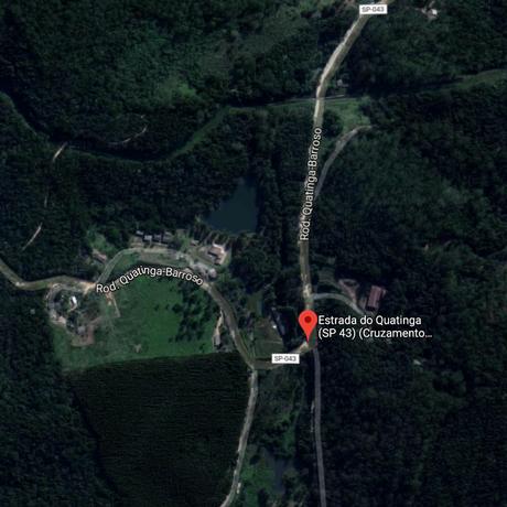 Região onde o helicóptero caiu em São Paulo Foto: Reprodução/GoogleMaps