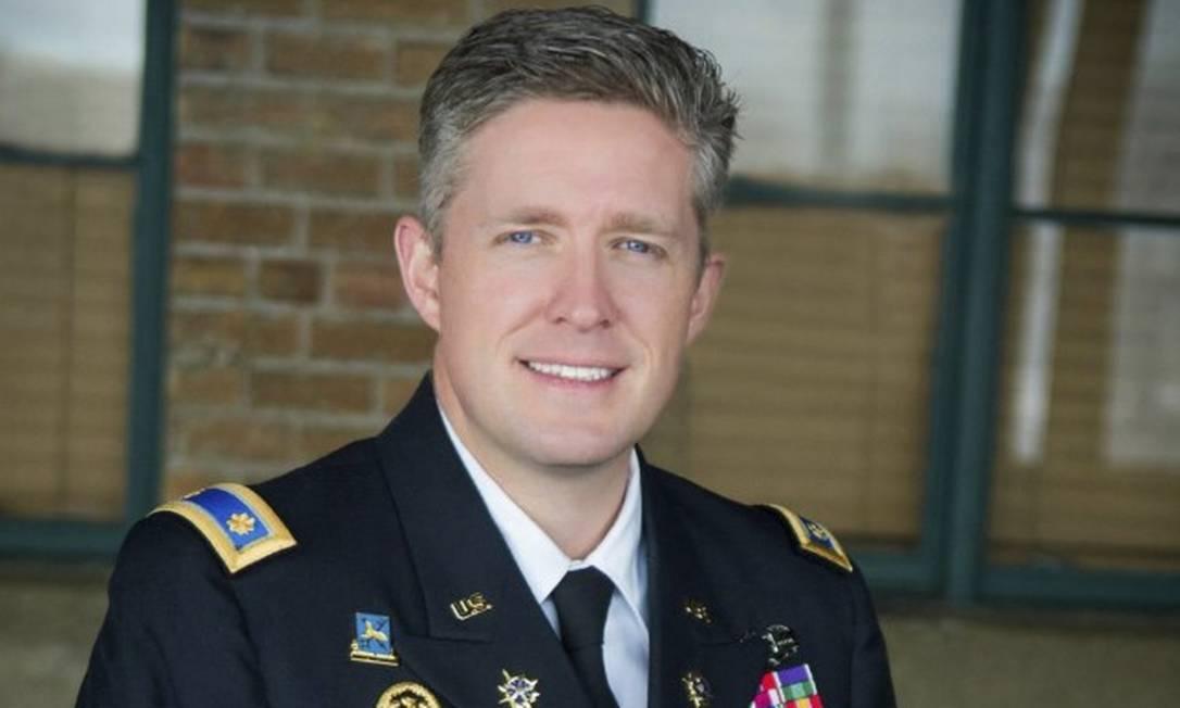 Major Brent Taylor tinha 39 anos. Era casado e pai de sete filhos Foto: Cortesia da Guarda Nacional de Utah/ via AP