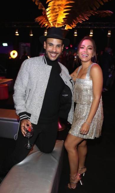Hugo Gloss e Anitta na after party do MTV EMAs Andreas Rentz / Getty Images for MTV