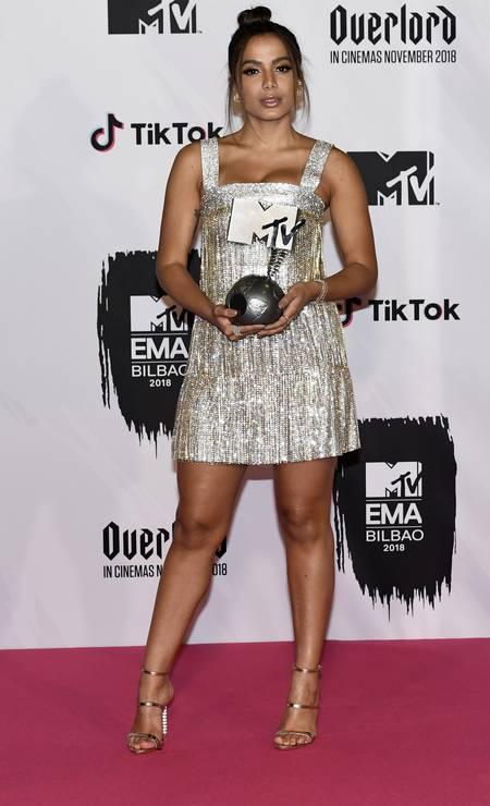 Carioca ganhou o prêmio de 'Melhor Artista Brasileiro' Foto: Carlos Alvarez / Getty Images for MTV