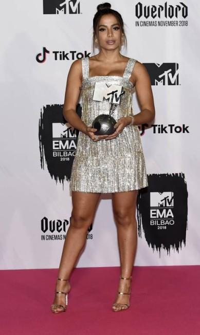 Carioca ganhou o prêmio de 'Melhor Artista Brasileiro' Carlos Alvarez / Getty Images for MTV