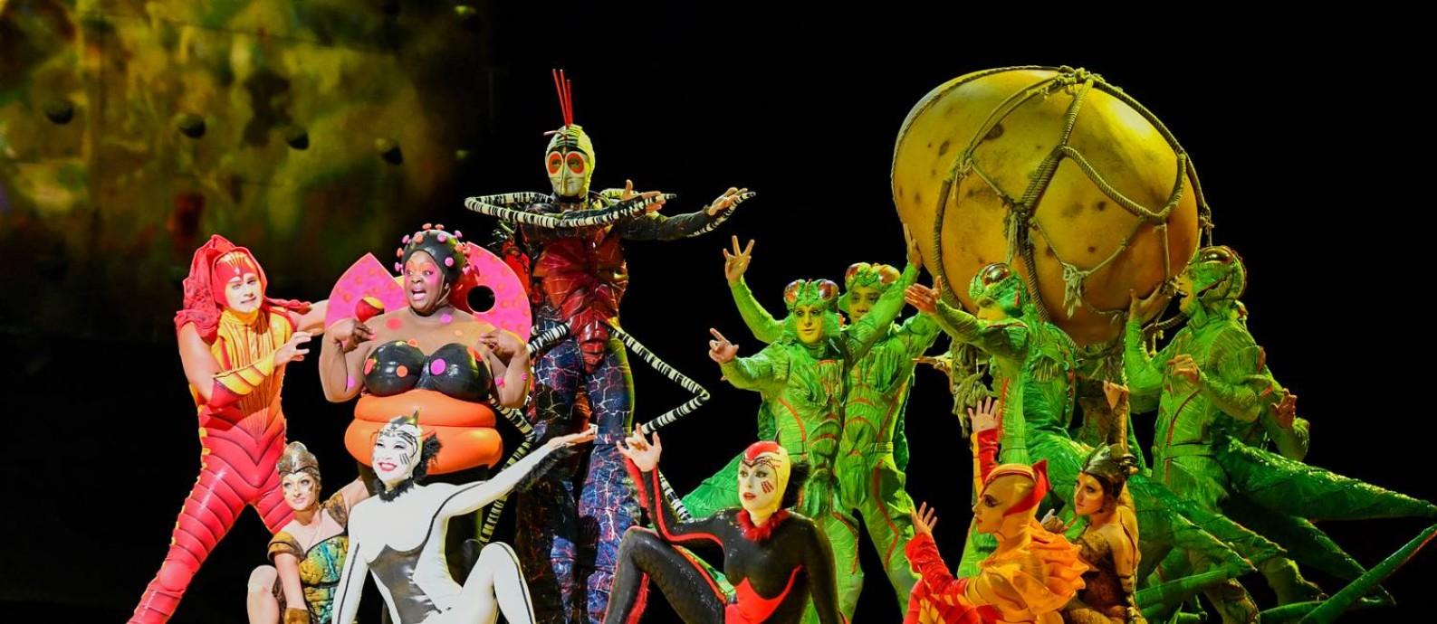 Cena de 'Ovo', do Cirque du Soleil Foto: Divulgação