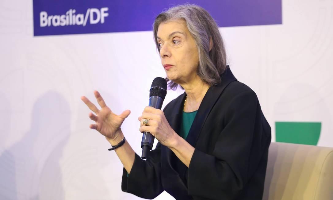 A ministra Cármen Lúcia, do STF, participa de seminário em Brasília Foto: Divulgação
