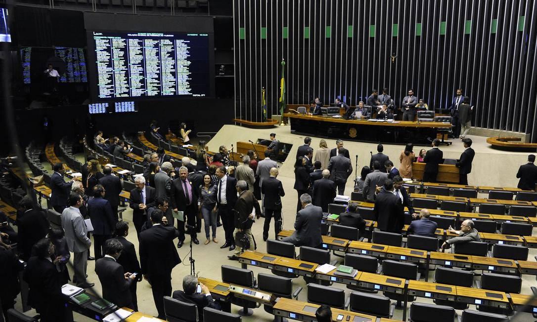 Plenário da Câmara dos Deputados, durante sessão Foto: Luis Macedo/Câmara dos Deputados/31-10-2018
