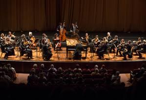 Orquestra de Câmara de Viena em ação no Teatro Municipal Foto: Divulgação/Renato Mangolin