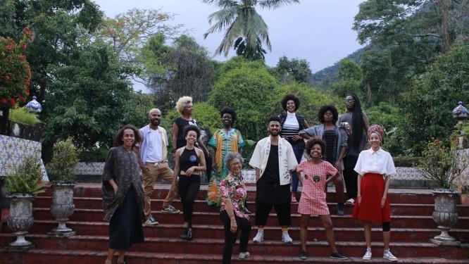 Os estilistas participantes do projeto Preta Porter Foto: Vinicius Tomás
