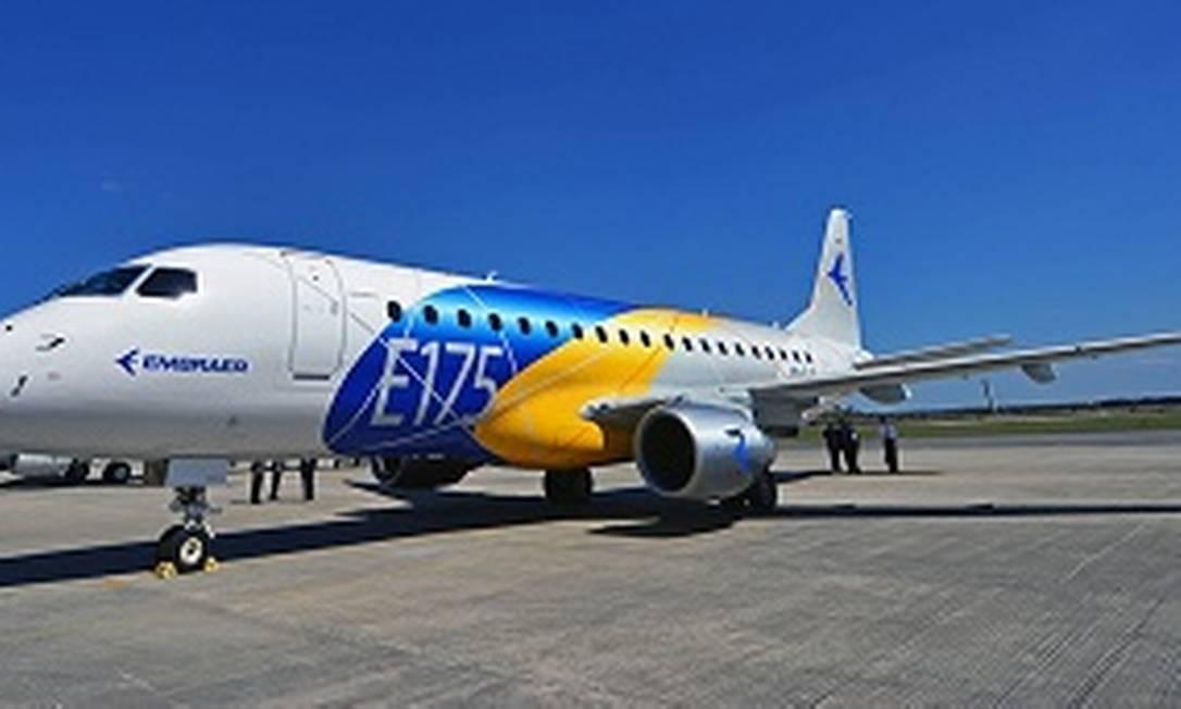 Jato E175, da Embraer Foto: Reprodução