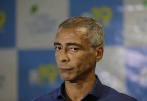 O senador Romário é investigado por envolvimento em um acidente de trânsito em dezembro Foto: Alexandre Cassiano / Agência O Globo