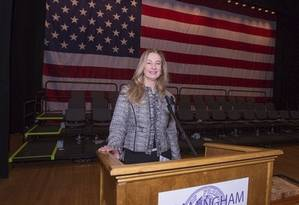 Goiana nos EUA. Margareth Shepard, vereadora desde 2016 em Framingham Foto: Divulgação
