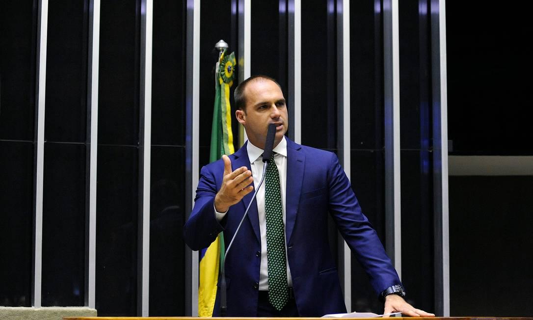 O deputado federal Eduardo Bolsonaro (PSL-SP) Foto: Luis Macedo/Câmara dos Deputados/09-10-2018