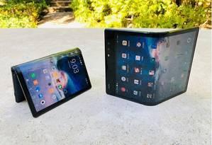 O FlexPai é o primeiro smartphone dobrável a chegar ao mercado Foto: ROYOLE