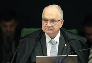 O ministro Edson Fachin, durante sessão da Segunda Turma do STF Foto: Carlos Moura/STF/30-10-2018