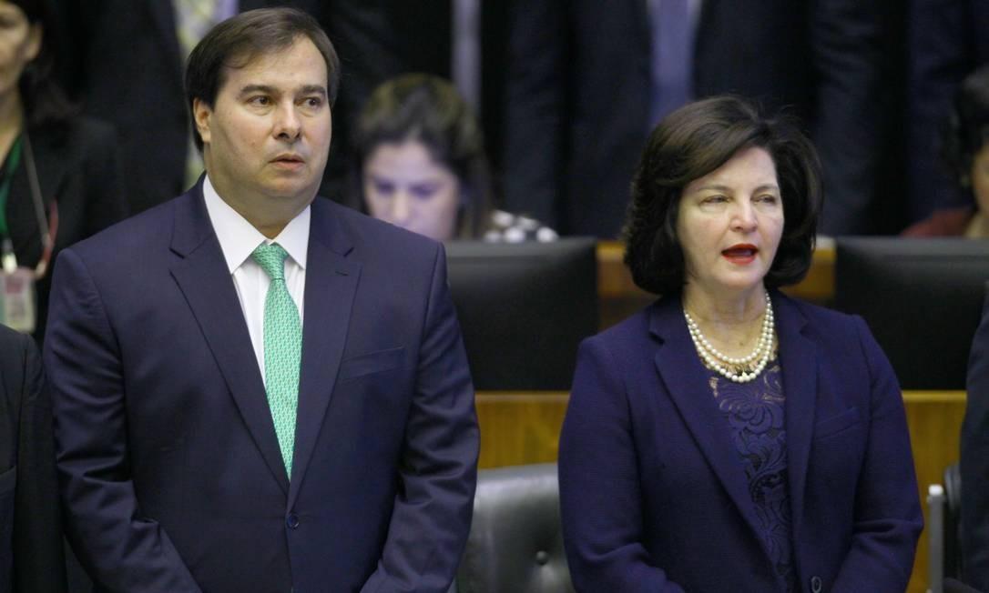 O presidente da Câmara dos Deputados, Rodrigo Maia e a procuradora-geral da República, Raquel Dodge Foto: Jorge William / Agência O Globo