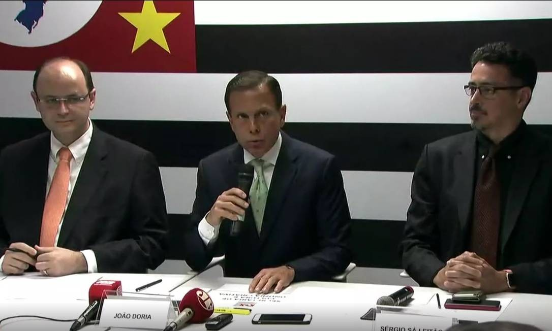 João Doria anuncia mais dois ministros de Temer para seu secretariado em São Paulo: Rossieli Soares (Educação) e Sérgio Sá Leitão (Cultura) Foto: Reprodução/TV Globo