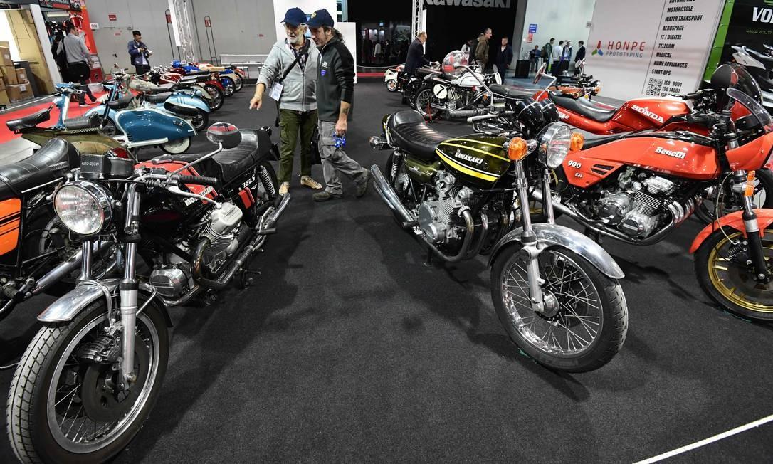 Moto Guzzi 750S antiga Foto: MIGUEL MEDINA / AFP