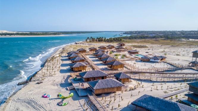 Jaguaribe Lodge & Kite, que fica em Fortim, no Ceará Foto: Divulgação