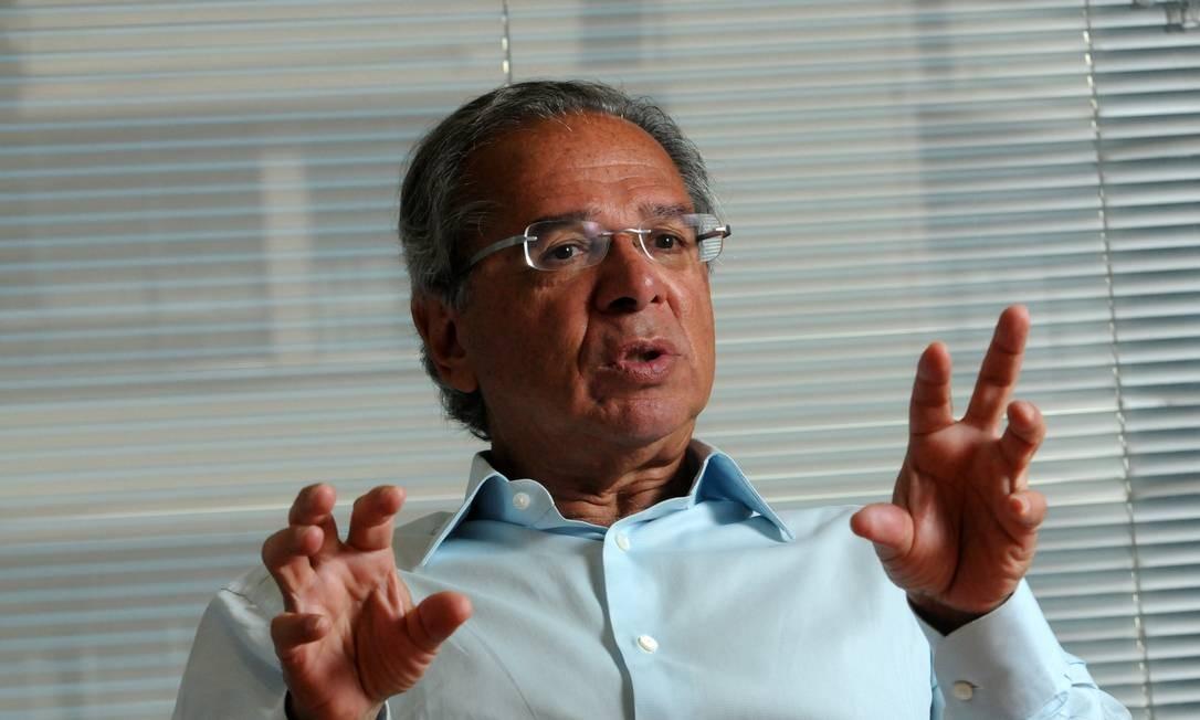 Paulo Guedes faz apelo ao Congresso para que reforma da previdência seja aprovada Foto: Valor Econômico / Agência O Globo
