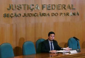 O juiz Sergio Moro foi anunciado como ministro da Justiça de Bolsonaro Foto: REUTERS/Daniel Derevecki