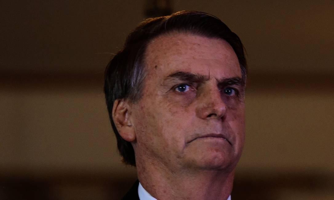 O presidente eleito Jair Bolsonaro, durante reunião no STF Foto: Jorge William / Agência O Globo