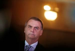O presidente-eleito Jair Bolsonaro, no STF Foto: Adriano Machado / REUTERS
