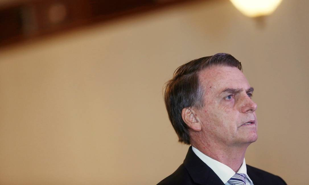 Jair Bolsonaro, em um encontro com o presidente do STF Dias Toffoli Foto: ADRIANO MACHADO / REUTERS