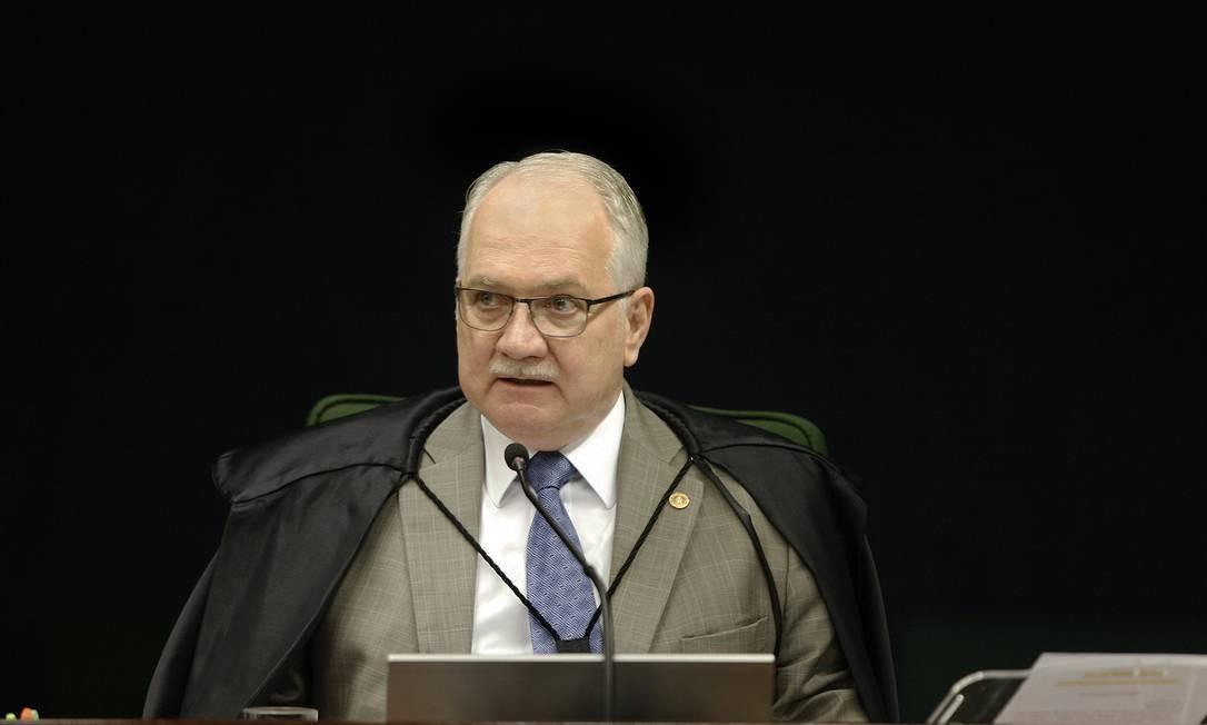 O ministro Edson Fachin, durante sessão da Segunda Turma do STF Foto: Rosinei Coutinho/STF/06-11-2018