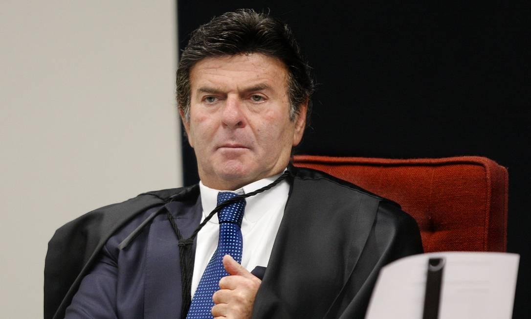 O ministro Luix Fux, durante sessão do STF Foto: Rosinei Coutinho/STF/06-11-2018
