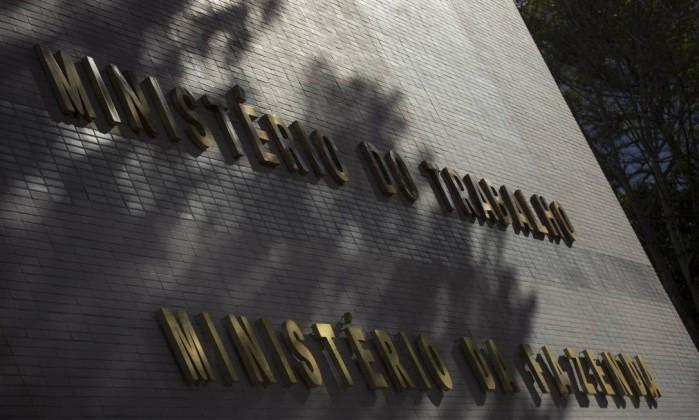 Fachada do prédio do Ministério do Trabalho, em Brasília Foto: Daniel Marenco/Agência O Globo/13-07-2018
