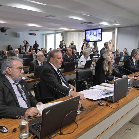 Sessão da Comissão de Assuntos Econômicos (CAE) do Senado Foto: Waldemir Barreto/Agência Senado