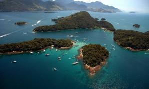 Vista aérea da Baía de Angra dos Reis Foto: Angra Convention & Visitors Bureau/Divulgação