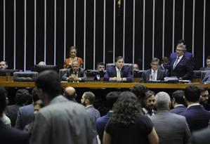 Plenário da Câmara dos Deputados durante votação Foto: Luis Macedo/Câmara dos Deputados