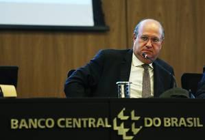 O presidente do Banco Central, Ilan Goldfajn, durante entrevista Foto: Ailton de Freitas/Agência O Globo/28-06-2018