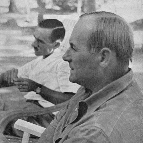 João Cabral de Melo Neto e Joan Miró entre 1940 e 1950 Foto: Divulgação / Agência O Globo